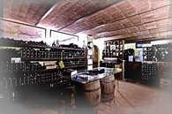 private cellar with 2500 wines