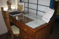 Desk for writing postcards