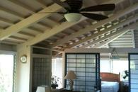 Ceiling fans in all rooms