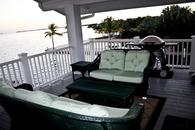 Porch overlooking ocean