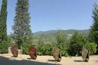 Garden with sculpures
