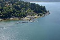 Overhead view of the Union, at Hood Canal