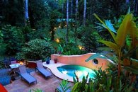 Your private plunge pool, gorgeous by day, magical by night
