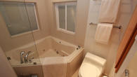 24'' deep corner Jacuzzi tub at the bathroom upstairs