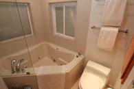 24'' deep corner Jacuzzi tub at the bathroom upstairs
