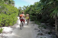 Biking to town - jungle path!