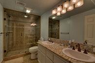 Bathroom with steam shower