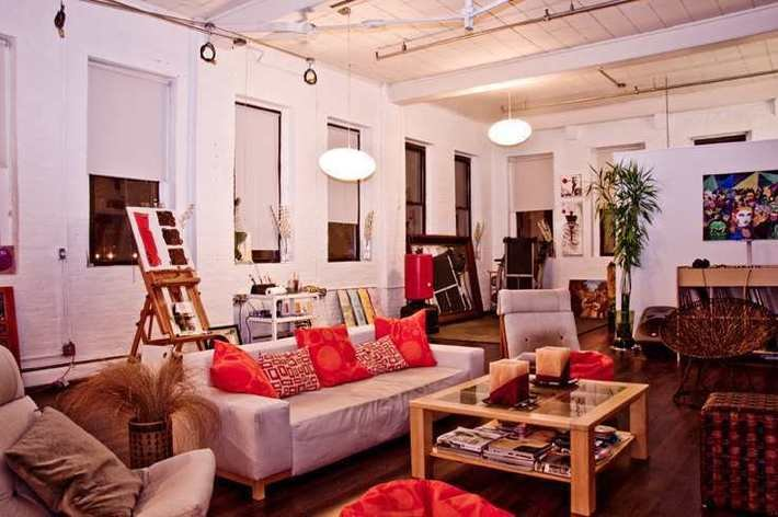 Rentini - Huge, Fun, Funky Designer LOFT - Tour NYC!
