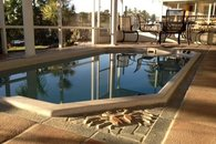 Spa / Pool in screened in Lanai