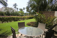 Private Lanai with large semi-private grass area