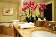 Master Bathroom at Waipouli Beach Resort Condo with Fine Art