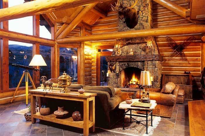 luxury log home pictures