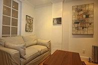 Living room with Montauk sleeping designer's sofa