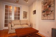 Sleeper Montauk sofa, convertible coffee table
