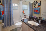 Family bathroom with granite countertop