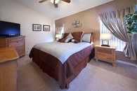 Master Suite with pillow top king & 40 inch HDTV