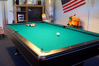 Game room with pool table, Wii, Air Hockey and Foosball