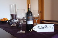 A bottle of wine is already waiting for our guests!
