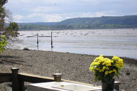 Low tide exposes the mud flats