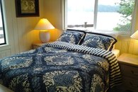 Master queen bedroom with water/mountain views