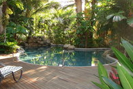 Heated Tropical Pool and Deck