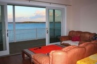 Living room with view of Sea of Abaco