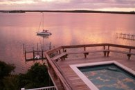 View from deck, pool and Sea of Abaco