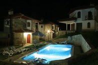 Shared Outdoor Pool at night