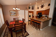 Granite countertops, premium appliances, gas cooking