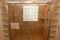 Master bath with walk-in shower, 2 shower heads