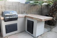 Outdoor kitchen. BBQ 300 days a year