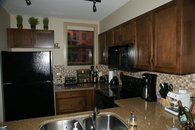 Kitchen at Playa Del Sol. 3BR Topfloor Condo, 2 Decks, Private Entrance, View of Wilson Creek and sometimes Lake Okanagan
