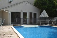 Inground solar heated pool