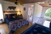 Upstairs bedroom at The Waterfall House a vacation rental house near Woodstock NY