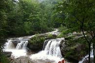 Summer waterfall views at The Waterfall House a weekend rental near Woodstock NY
