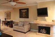 Flat screen tv's and fireplace