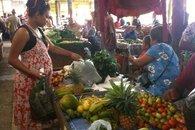 Savusavu, Fiji open air market