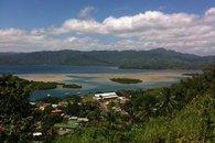 Savusavu, Fiji town, reef at low tide