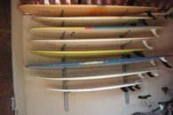 Free use of surfboards from a large & varied collection